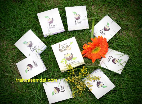 gói trà hoa sâm đất