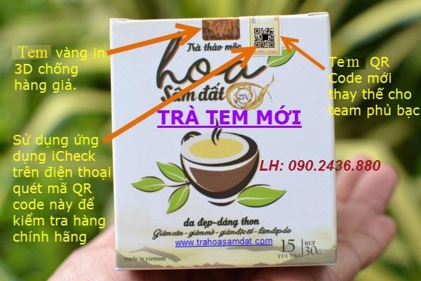 phân biệt trà giảm cân hoa sâm đất chính hãng 2