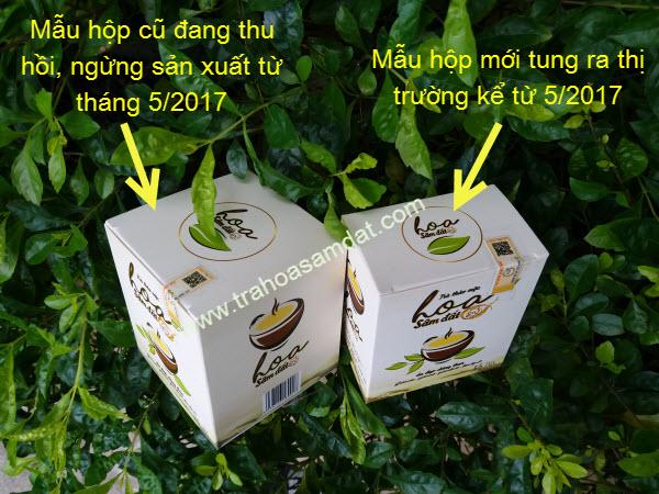 trà hoa sâm đất mẫu mới