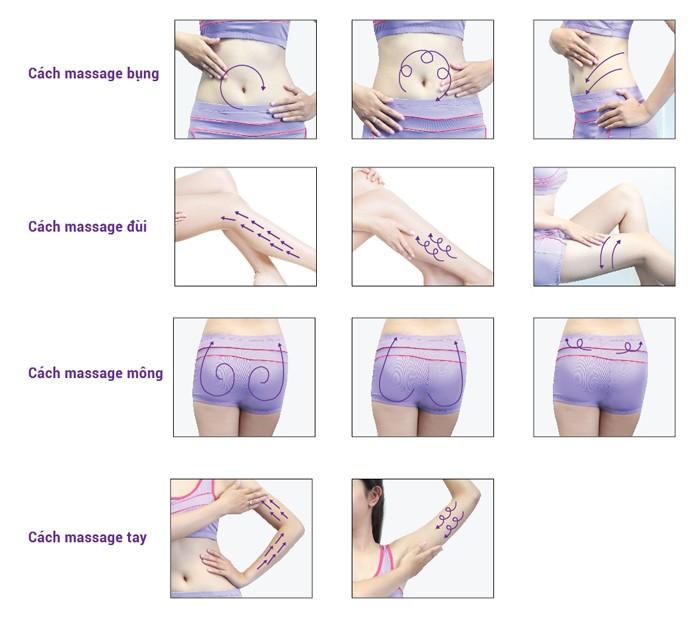 cách massage bụng với cao mộc zini hoàng